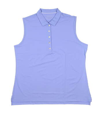 New Womens Peter Millar Performance Sleeveless Polo X-Large Periwinkle MSRP $75