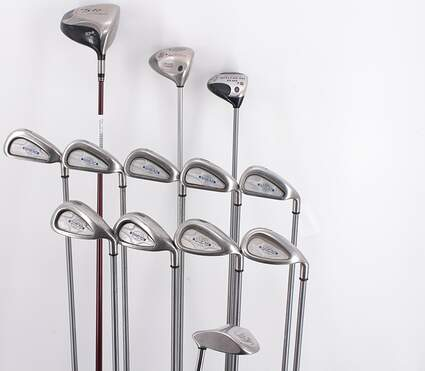 Mens Complete Golf Club Set Right Handed Regular Flex TaylorMade Driver Callaway Irons Wedge Putter MSRP $ 1599