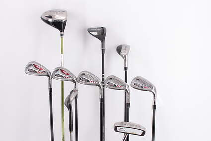Mens Complete Golf Club Set Right Handed Regular Flex Cobra Driver TaylorMade Hybrids Irons Wedge Putter MSRP $ 2299