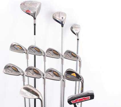 Mens Complete Golf Club Set Right Handed Regular Flex TaylorMade Driver Ping Irons Titleist Wedge Hybrid Putter MSRP $ 2299