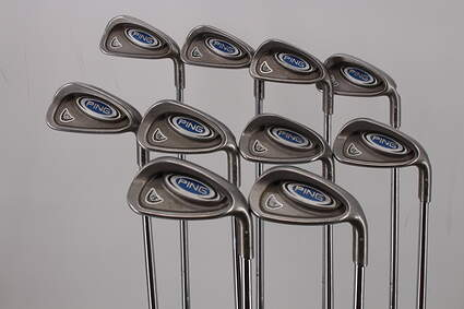 Ping i5 Iron Set 3-PW GW SW True Temper Steel Stiff Right Handed Silver Dot 38.25in