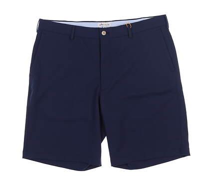 New Mens Peter Millar Salem High Drape Golf Shorts 36 Navy Blue ME0EB82 MSRP $89