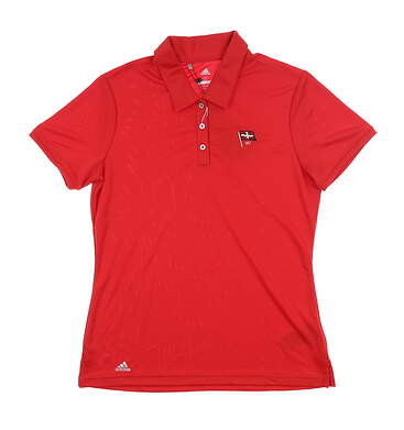 New W/ Logo Womens Adidas Tournament Polo Small S Red CD3412 MSRP $60