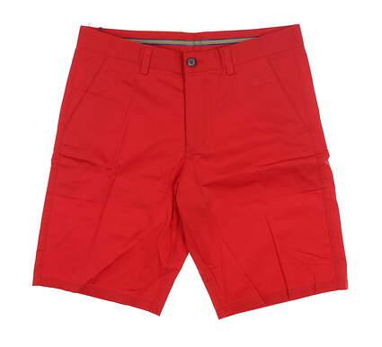 New Mens Cross Classic Bermuda Golf Shorts 34 Scarlet MSRP $85