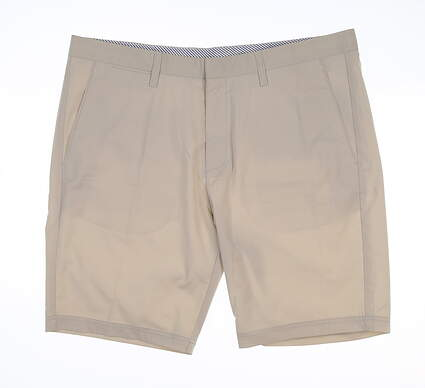 New Mens Cross Byron Golf Shorts 36 Pumice Stone MSRP $120
