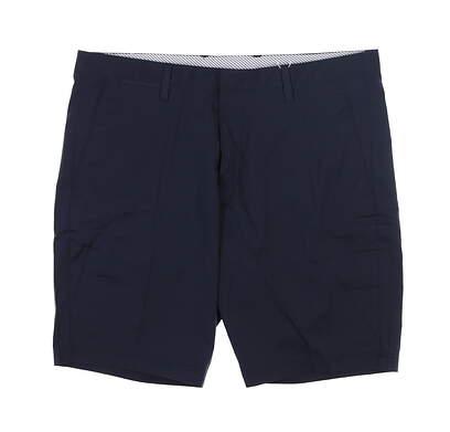 New Mens Cross Byron Golf Shorts 35 Navy Blue MSRP $120