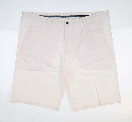 New Mens Cross Classic Bermuda Golf Shorts 40 White MSRP $85
