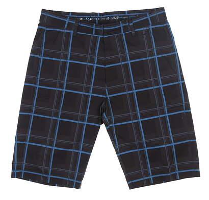 New Mens Cross Andre Golf Shorts 38 Black/Blue MSRP $107