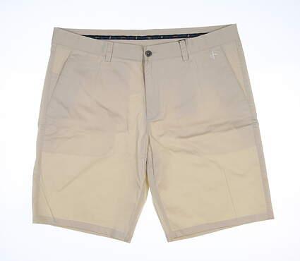 New Mens Cross Classic Bermuda Golf Shorts 40 Birch MSRP $85