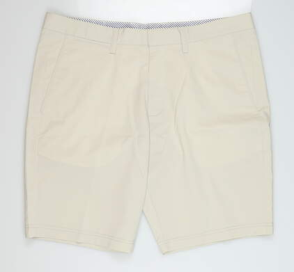 New Mens Cross Byron Golf Shorts 38 Pumice Stone MSRP $120
