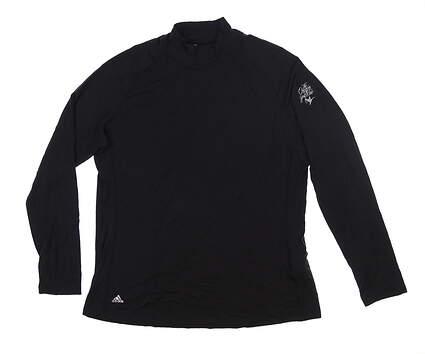 New W/ Logo Womens Adidas Long Sleeve Base Layer X-Large Black BC7463 MSRP $50