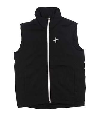 New Mens Cross Full Zip Golf Vest Small S Black MSRP $125