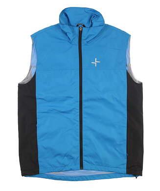 New Mens Cross Full Zip Strike Golf Vest Large L Jewel Blue MSRP $95