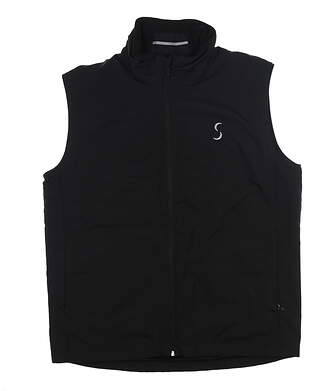 New W/ Logo Mens Cross Wind Golf Vest Medium M Black MSRP $125