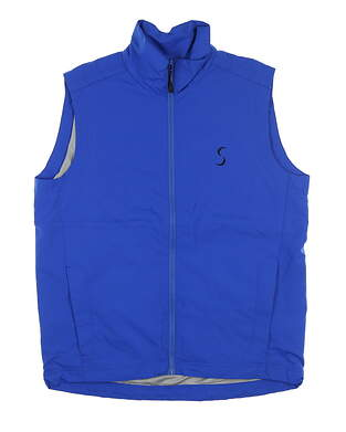 New W/ Logo Mens Cross Wind Golf Vest Medium M Dazzling Blue MSRP $129