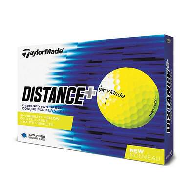 TaylorMade Distance Plus Yellow Golf Balls