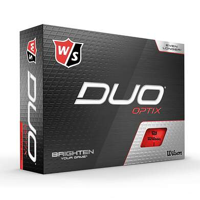 Wilson Staff DUO Optix Red Golf Balls