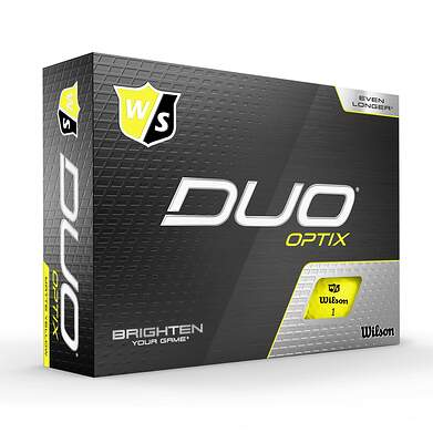 Wilson Staff DUO Optix Yellow Golf Balls