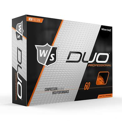 Wilson Staff Duo Pro Orange Golf Balls
