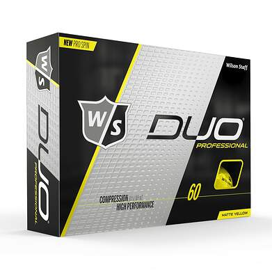 Wilson Staff Duo Pro Yellow Golf Balls