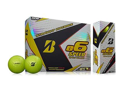 Bridgestone e6 Speed Yellow Dozen Golf Balls