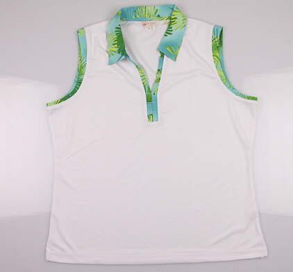 New Women's Monterey Club Golf Sleeveless Polo X-Large XL White