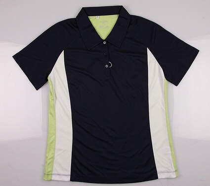 New Women's Monterey Club Golf Polo Medium M Navy Blue/Lettuce
