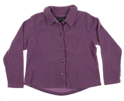 New Women's Straight Down Golf Sweater Large L Purple LS