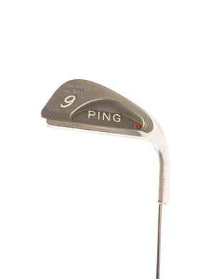 Ping Karsten III Single Iron 9 Iron Stock Steel Shaft Steel Stiff Right Handed Red dot 35.75 in
