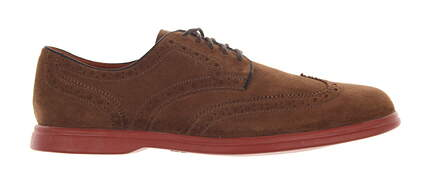 New Mens Golf Shoes Peter Millar WingTip Size 10.5 Soft Coco Brown MF13F04