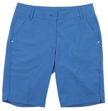 New Womens Puma Golf Shorts Size 4 Blue Blithe Bermudas 568359