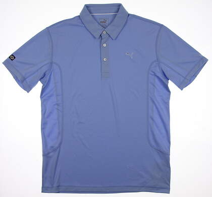 New Mens Puma Golf Polo Medium M Delia Robbia Blue Tech 568242