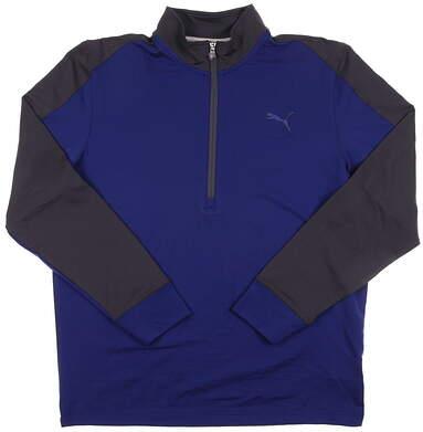 New Men's Puma Golf CB Pullover Medium M Sodalite Blue LS 569100