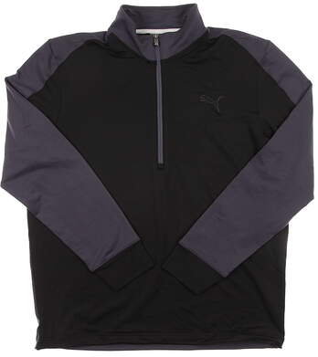 New Men's Puma Golf CB Pullover Medium M Black LS Dry Cell 569100