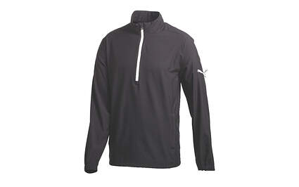 New Mens Puma 1/2 Zip Wind Jacket Medium M Black 567142-02 MSRP $70