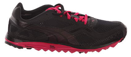 New Womens Golf Shoes Puma Faas Lite Mesh WNS Size 7 Black Pink 186848-02