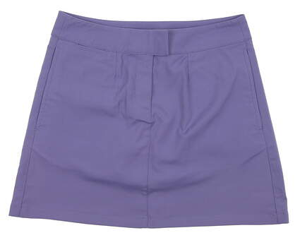 New Womens Puma Golf Solid Tech Dry Cell Skort Size Medium Bleached Denim