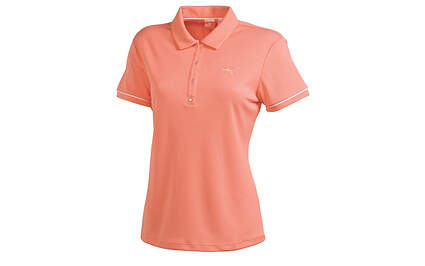 New Womens Puma Dry Cell Wicking Solid Tech Polo Small SS Desert Flower 565761 MSRP $55