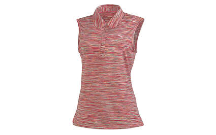 New Womens Puma Golf Dry Cell Space Stripe Sleeveless Polo Small Pink 565787 MSRP $60