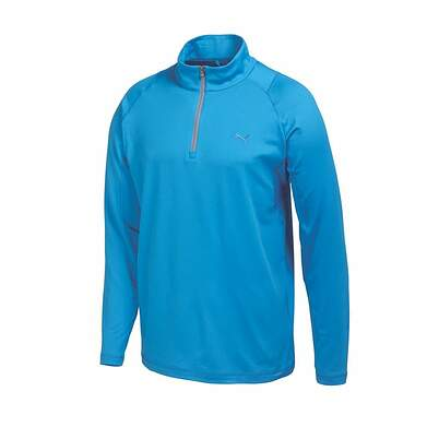 New Mens Puma Baselayer Dry Cell Golf Pullover Medium Cloisonne Blue 569113 MSRP $75