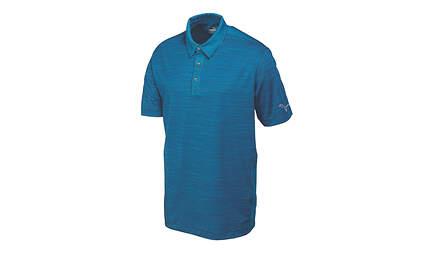 New Mens Puma Dry Cell Heather Stripe Golf Polo Medium Blue 570098 MSRP $70