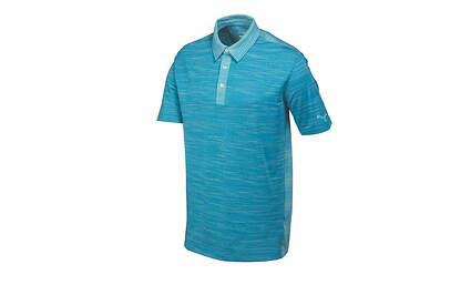 New Mens Puma Heather Stripe Dry Cell Golf Polo Medium Cloisonne Blue 570098 MSRP$70
