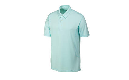 New Mens Puma Solid Tech Cool Cell Golf Polo Medium Clearwater 568242 MSRP $50