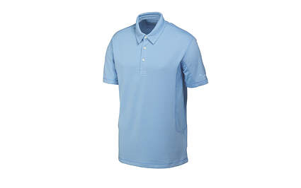 New Mens Puma Cresting Solid Tech Cool Cell Golf Polo Medium Della Robbia Blue 568243 MSRP$50