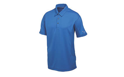New Mens Puma Solid Tech Cool Cell Cresting Golf Polo Medium Strong Blue 568243 MSRP $50