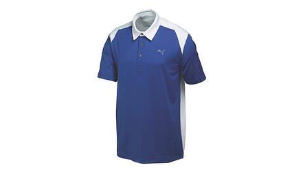 New Mens Puma Block Color Tech Cresting Golf Polo Medium Sodalite Blue 569107 MSRP$60