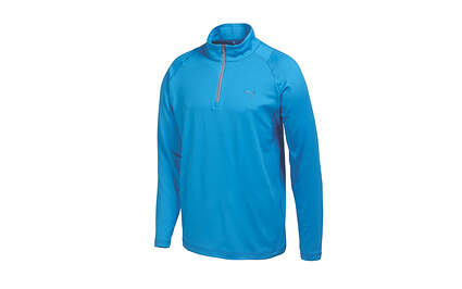 New Mens Puma Dry Cell Quarter Zip Golf Pullover Medium Cloisonne 569113 MSRP $65