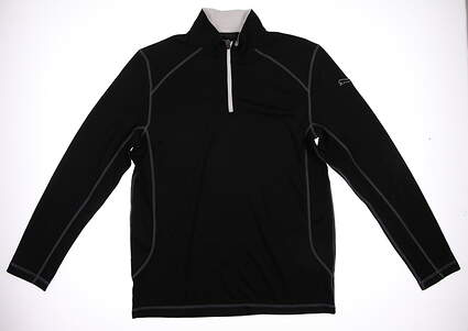 New Mens Puma Essential Breathable Dry Cell Golf Pullover Medium Black 568249 MSRP $75