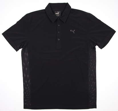 New Mens Puma Woven Cool Cell Tech Golf Polo Medium Periscope 569112 MSRP $65