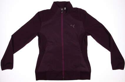 New Womens Puma Rain Tech Storm Cell Golf Jacket Small Plum 569082 MSRP $95